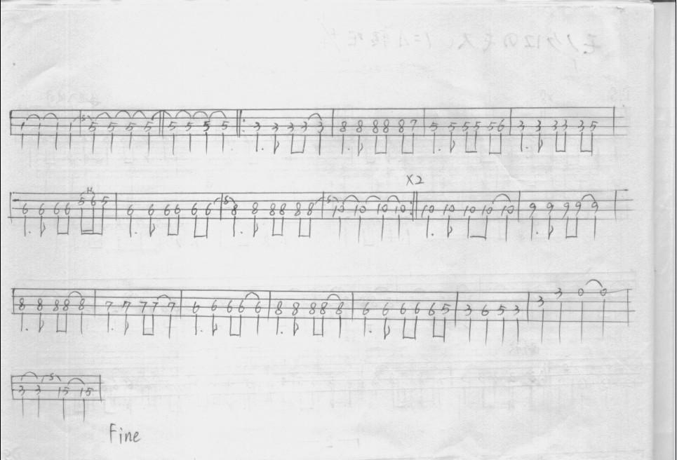 贝司独奏谱